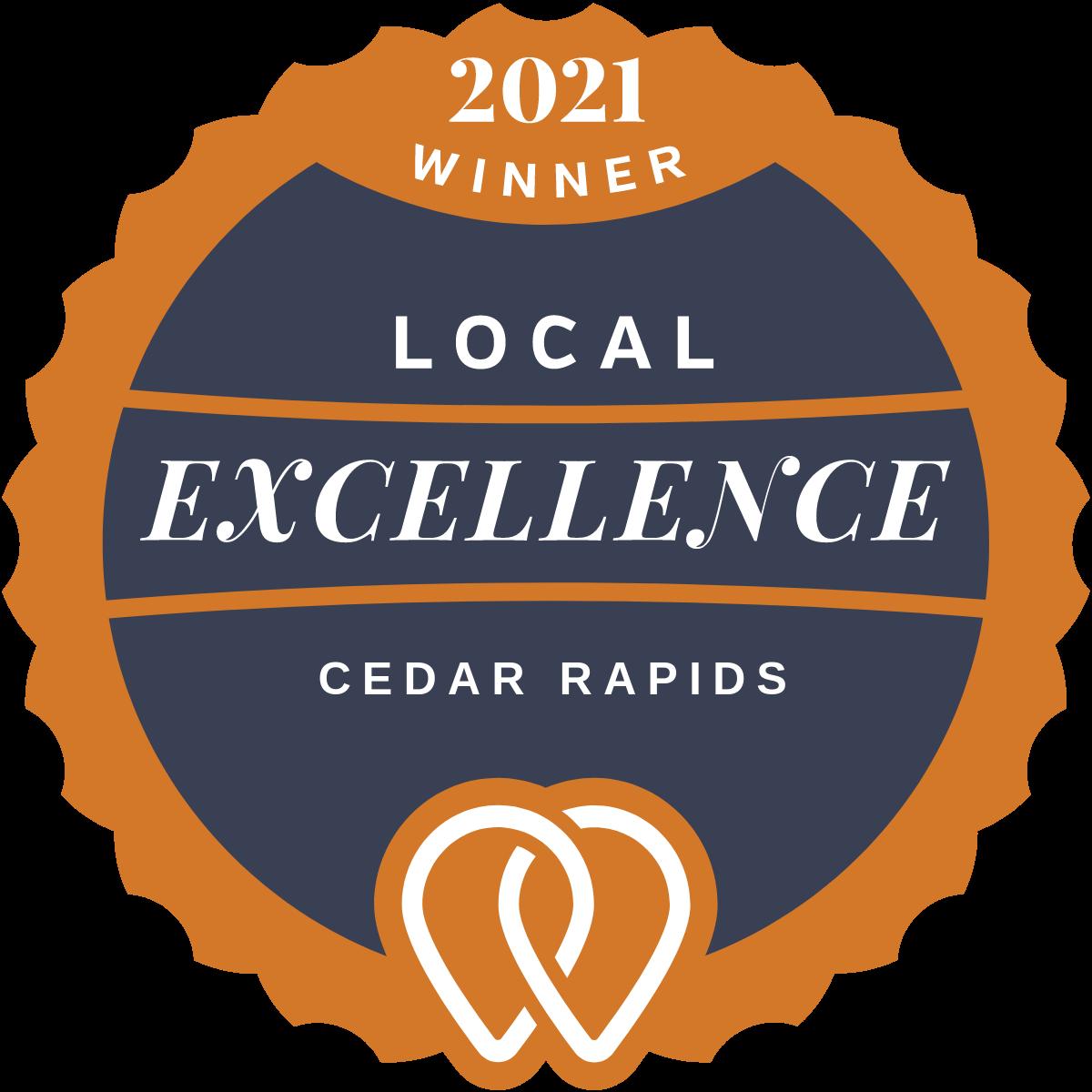 2021 Local Excellence Winner in Cedar Rapids, IA