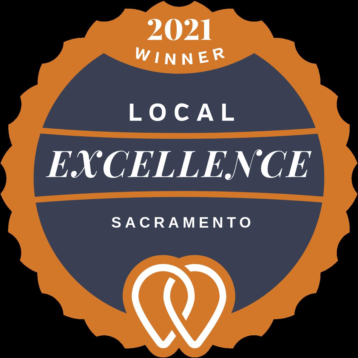 2021 Local Excellence Winner in Sacramento, CA